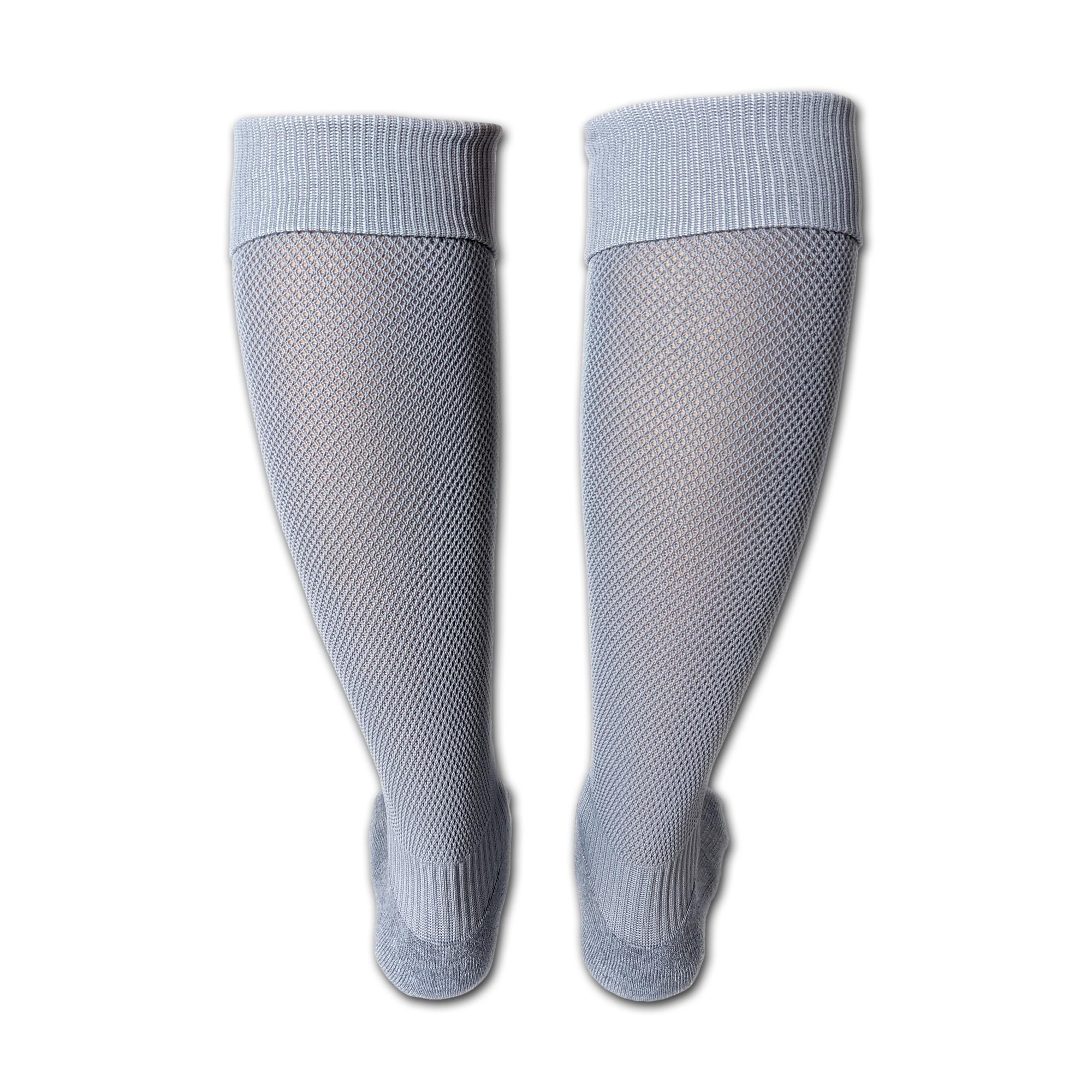 Fußballsutzen / Fußball Socken in grau (Hinteransicht)