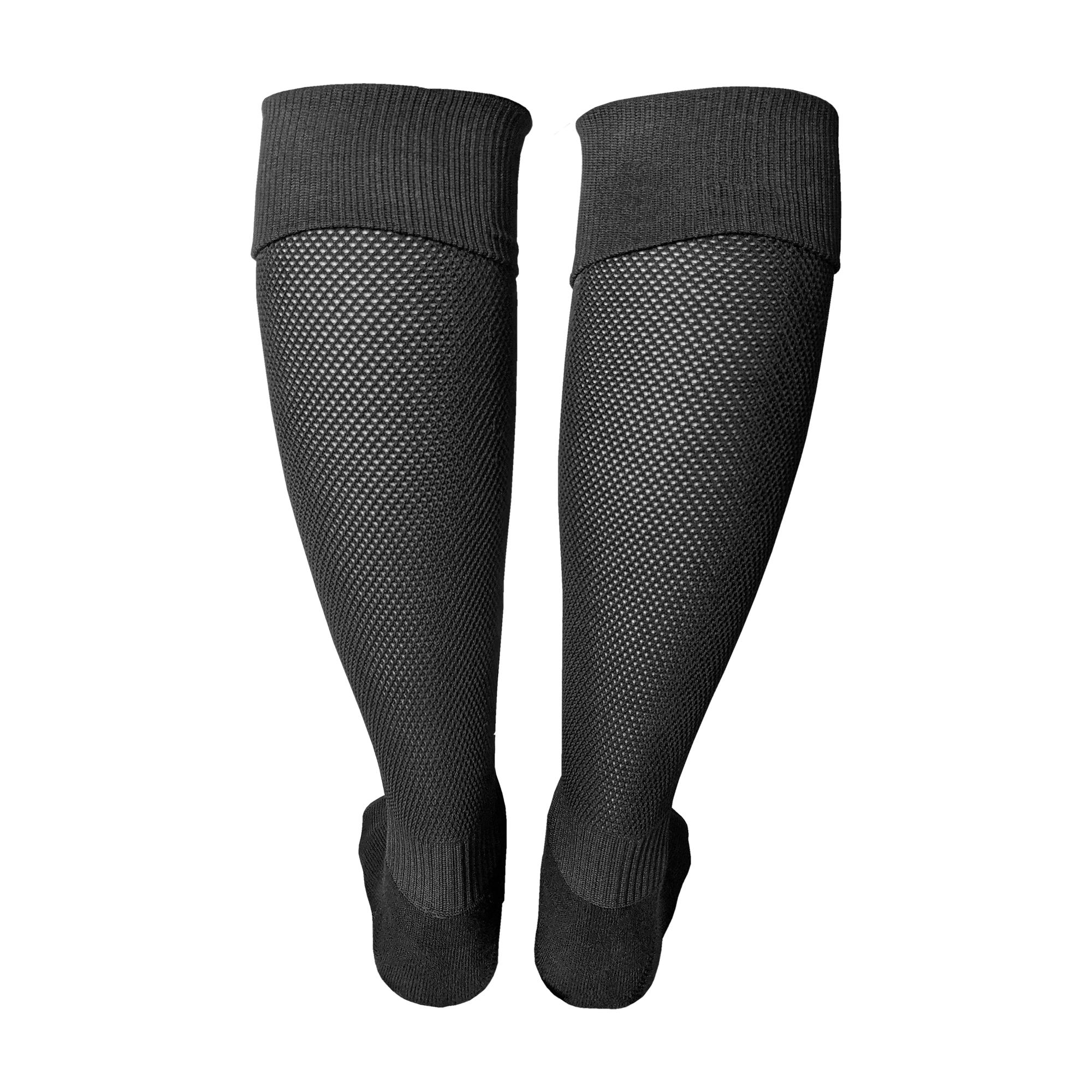 Fußballsutzen / Fußball Socken in schwarz (Hinteransicht)
