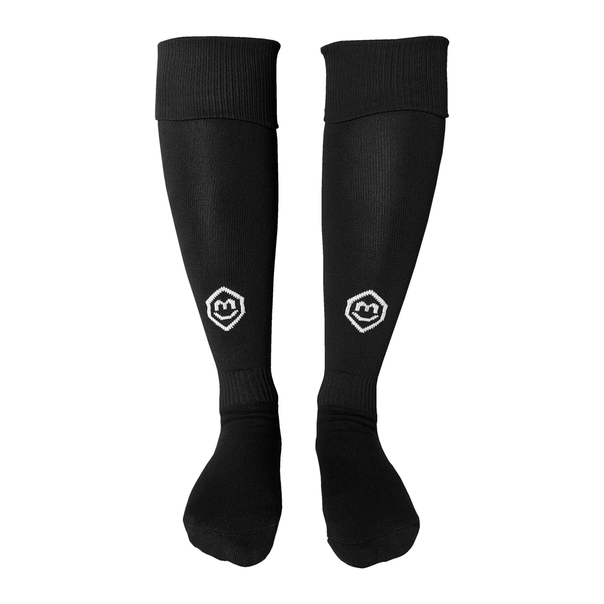 Fußballsutzen / Fußball Socken in schwarz (Vorderansicht)