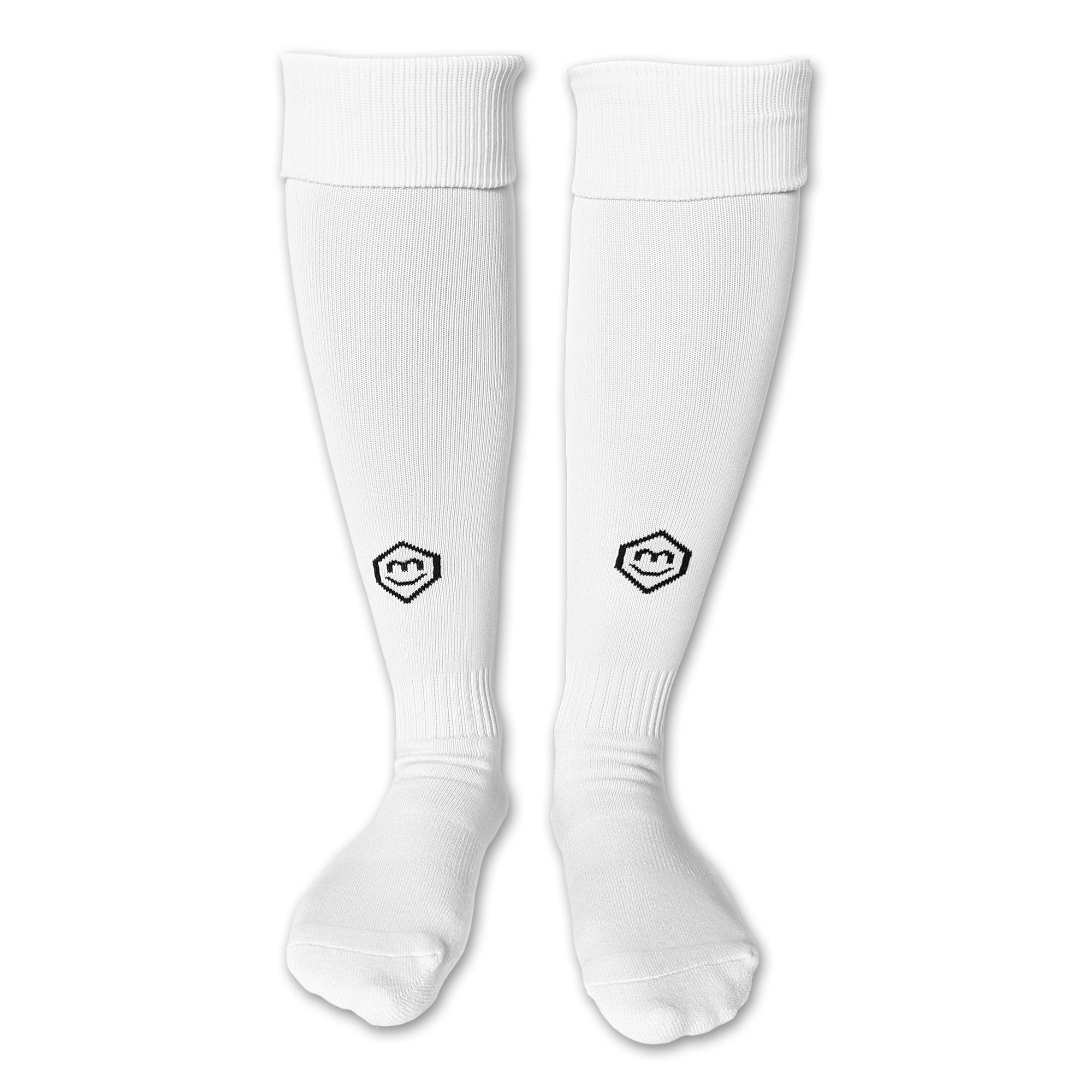 Fußballsutzen / Fußball Socken in weiß (Vorderansicht)