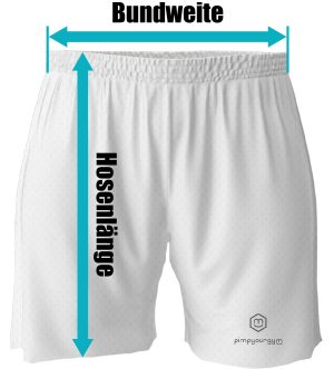 Bemaßung shorts